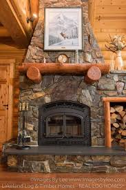 huge cabin fireplace