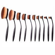 my makeup brush set reviews. oval brush 10 piece set my makeup reviews a