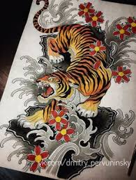 japanese tiger tattoo drawing. Wonderful Drawing Pervuninsky_dmitry Customrose Tattoo Tattoo Sketch   Japanese  Art Sleeve Tattoos Throughout Tiger Drawing O