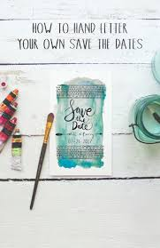 Handlettered Save the Date Pin