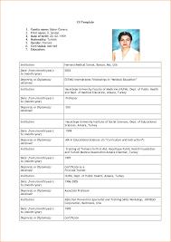 Resumes Resume Format For Job Sample Of Biodata Application Template