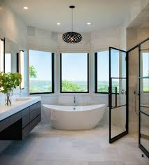 shower doors of austin with contemporary bathroom and curved walls floating vanity glass shower door pendant