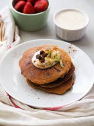 zucchini bread in pancake form plus dark chocolate chips make these almond flour zucchini