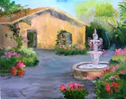paint along with larry hamilton may 15 2016 oil painting cottage courtyard for class full you