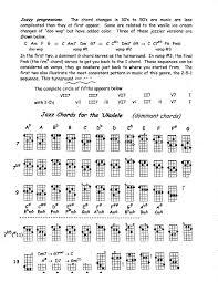 Ukulele Boogaloo Chord Chart Jazz Chord Charts For Ukulele