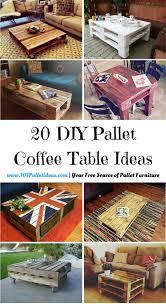Coffee Table Designs Diy 20 Diy Pallet Coffee Table Ideas