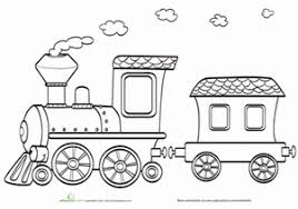 There are also famous train cartoon characters that they love such as thomas from the railway series and britain's beloved children's tv series thomas & friend. Train Coloring Pages Education Com
