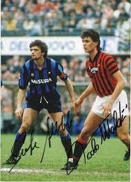 Paolo Maldini e Alessandro Altobelli – Signed Photo – Soccer (Milan) –  SignedForCharity