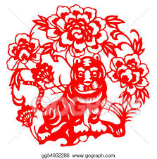 chinese tiger clipart. Simple Chinese Chinese Zodiac Of Tiger With Tiger Clipart