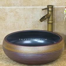 vessel sink waterfall faucets vessel sinks copper sink waterfall faucet combination square with overflow kraus broken
