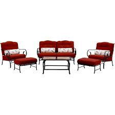 Oceana 6 Piece Seating Set In Crimson Red With Tile Top Coffee Table    OCEANA6PC TL RED