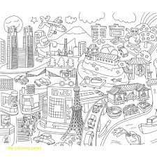City Coloring Pages With Print Architecture Big City Coloring Pages