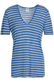 Striped Slub Jersey T Shirt