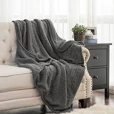 Dark Gray Throw Blanket