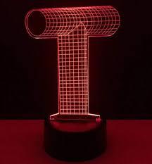 Amazoncom Qixian Night Light Wall Lamp Led Lamp 3d Alphabet