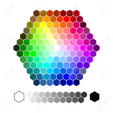 color chart color chart hexagon vector