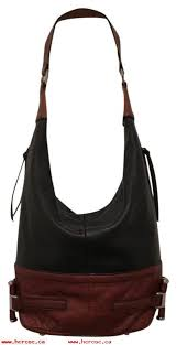 super popular b makowsky bucket shoulder black brown leather hobo bag n55vsamo
