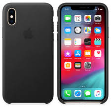 <b>Чехол Apple Leather Case</b> - Black черный, для iPhone XS – купить ...