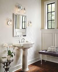 Transitional Bathroom Lighting Chrome