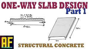 Concrete Slab Design Example One Way Concrete Slab Design Part 1 Concept Explained And Minimum Slab Thickness Canadian Code
