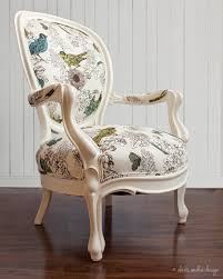 Round Bedroom Chair Antique Victorian Armchair Classic Unexpected Cream Vintage Blue