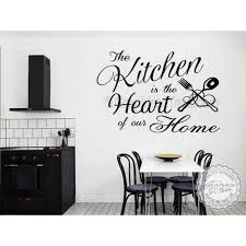 kitchen is the heart of our home family wall art sticker quote vinyl decor decal
