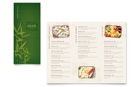 Take Out Menu Template Asian Restaurant Take Out Brochure Template Word Publisher