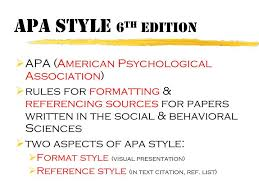 ppt apa style 6 th edition powerpoint
