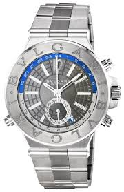 bvlgari watch shops online page 3 bvlgari diagono professional gmt grey dial automatic mens watch dg40c14ssdgmt
