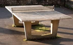 a concrete table tennis table