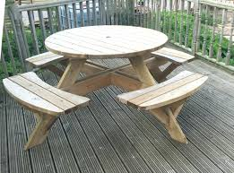 round wooden picnic table tables for manila
