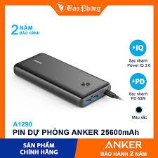 Pin dự phòng ANKER A1290 PowerCore III Elite 25600mAh 60W PD Dành cho điện  thoại iPhone iP Xiaomi Huawei Samsung Oppo - Pin sạc dự phòng di động