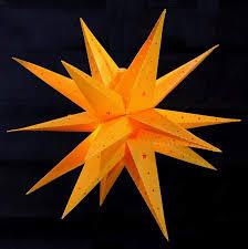 Weihnachtsstern 42cm Gelb Led Außenstern 3d Adventsstern