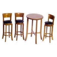 ENSEMBLE TABLE HAUTE DE BAR AVEC 3 CHAISES