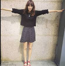brits mistaking celebrity influence body fads as being in good  the thigh gap seen here on alexa chung on a picture she posted