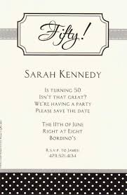 Formal 50th White Paper Materials Birthday Party Invitation