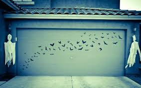 outdoor wall decals as well as mysterious garage door decals ideas bats fake ghost modern home outdoor wall decals