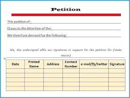Free Template For Petition Signatures Elegant Templates How