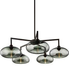 niche modern quill 5 modern chandelier aurora in gray