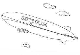 Zeppelin Kleurplaat Gratis Kleurplaten Printen