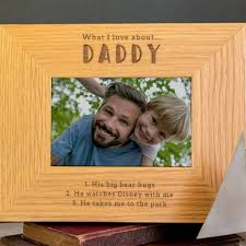 personalised daddy photo frame from son daughter