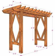 diy g arbor simple diy pergola free building plan a piece intended for diy arbor plans