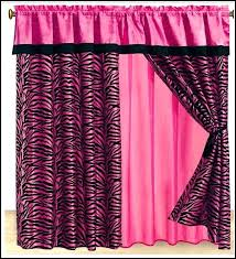 pink and black shower curtain hot pink and black zebra shower pink black white shower curtain
