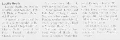 Lucille Heath - obituary - Newspapers.com