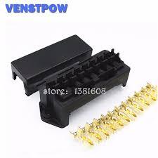 8 way black car seat medium relay fuse box assembly 16pcs 8 way black car seat medium relay fuse box assembly 16pcs terminals car engine compartment