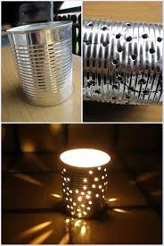 do it yourself lighting. better than just a plain candle light i have done this with nail and hammer it does turn out pretty if you donu0027t bend up the can by do yourself lighting