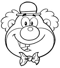 Grappige Hoofd Clown Kleurplaat Gratis Kleurplaten Printen