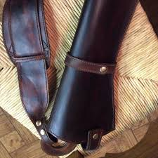 a hand made x large frame scoped revolver holster hunting bandelero shoulder style made to order from 2e leatherworks monster holsters