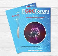 flyers forum webinar flyer design it forum