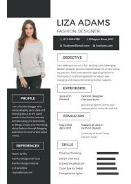 unique resume template free fashion designer resume and cv template in psd ms word